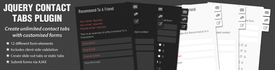 jQuery Contact Tabs Plugin