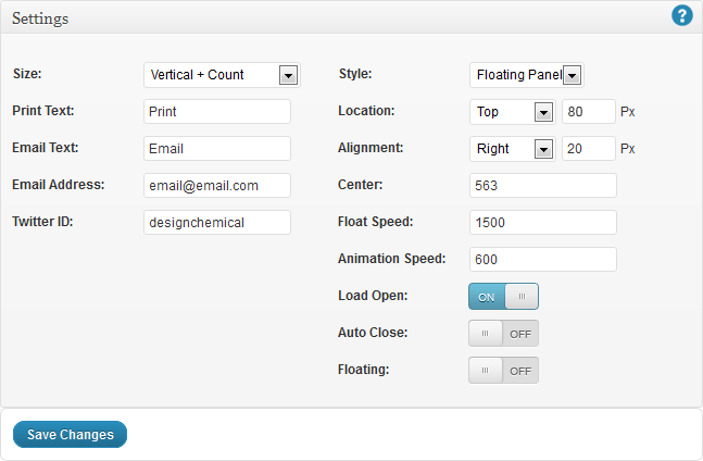 WordPress Social Share Buttons Custom Settings