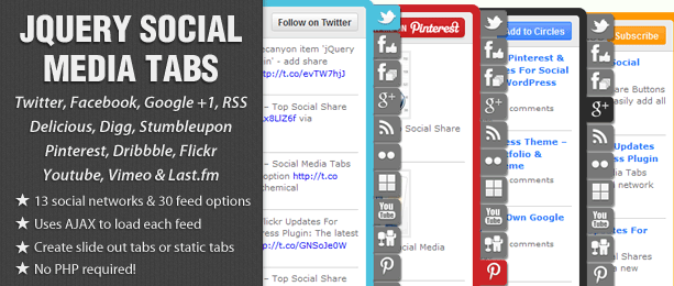 jQuery Social Share Buttons