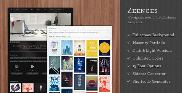 New Wordpress Theme – Zeences Portfolio & Business Theme « Design ...